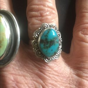Jewelry - Turquoise and Sterling Boho Ring